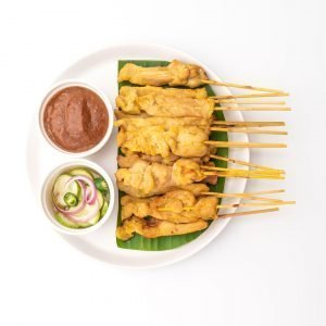 Lunch: Thai Chicken Skewers with a Peanut Sauce